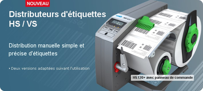 Distributeurs d'étiquettes HS / VS
