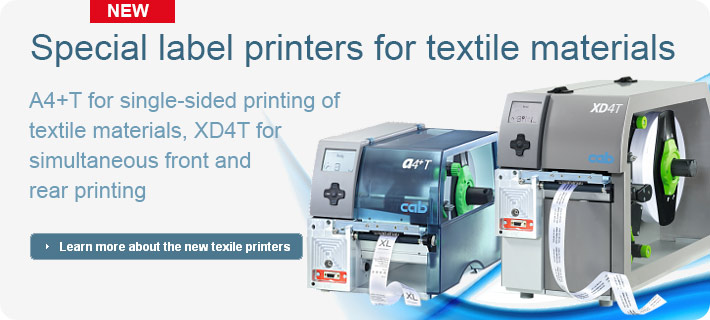 New: cab label printers for textile materials