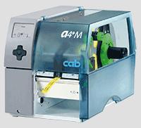 Der mittengeführte cab Etikettendrucker A4+M