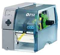 cab label printer A4+M especially for very small labels and slim continuous materials