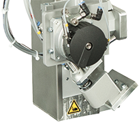 cab aplicador pivotante 3214 por sistema de impresión y etiquetado HERMES Q