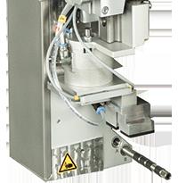 cab aplicador de elevación y giro 4214 por sistema de impresión y etiquetado Hermes+