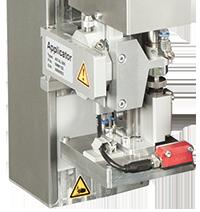 cab aplicador de elevación y soplado 4614 por sistema de impresión y etiquetado HERMES Q