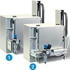 Examples of compressed air regulation unit assembly