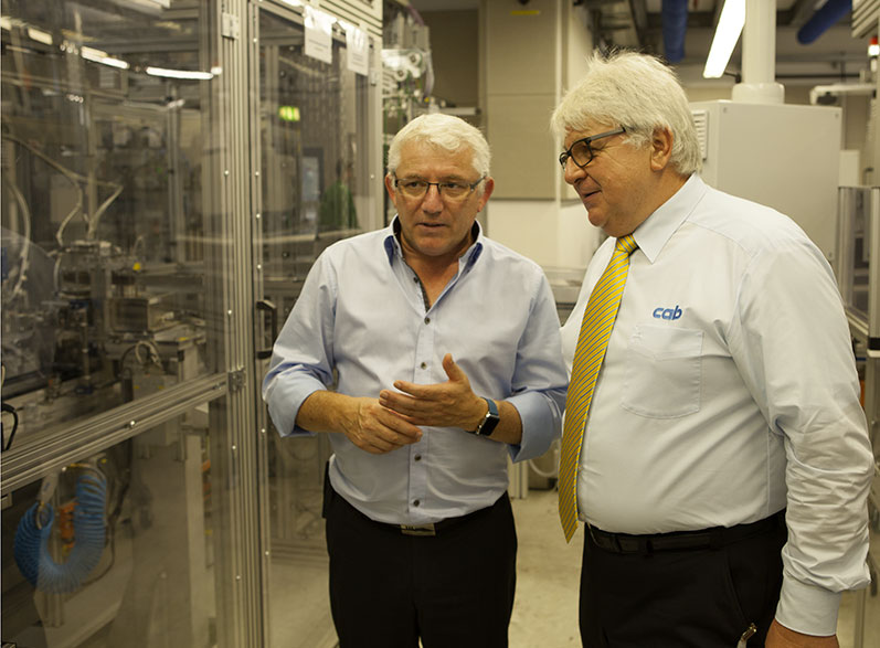 Thomas Reisbeck from ZF TRW (pictured left) with cab consultant Dieter Kehret