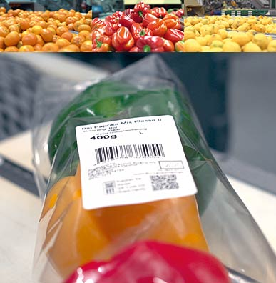 Packaging of fruit and vegetable