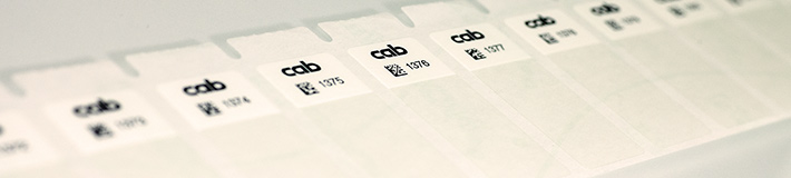 Labels  for cable marking