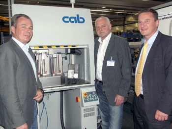 from the left: Peter Mantik, Assembly Planning Gear Boxes, Jens Heidel cab Sales Manager North, Jens Niebuhr, Production Manager Gear Boxes