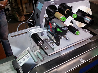 Label printer A+ series with dispensing module