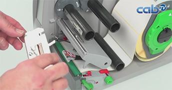 Etikettendrucker EOS Druckkopfwechsel