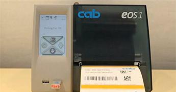 cab EOS1 - der Etikettendrucker mit Touchscreen