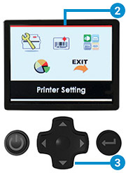 Multi-language color display with navigator pad