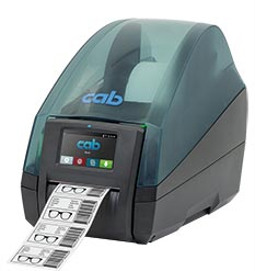 Label printer MACH 4S type B with tear-off edge