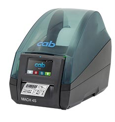 Label printer MACH 4S type P with peel-off function