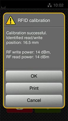 RFID Kalibrierung Ende