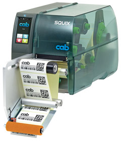 cab label printer SQUIX with dispensing module S5104