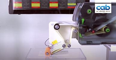 Etikettendrucker SQUIX mit Applikator S5104
