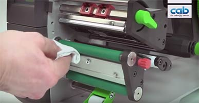 cab SQUIX: Cleaning print roller