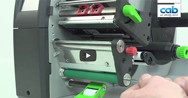 cab SQUIX: Changing print roller