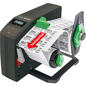 Label dispenser HS - Horizontal dispensing direction
