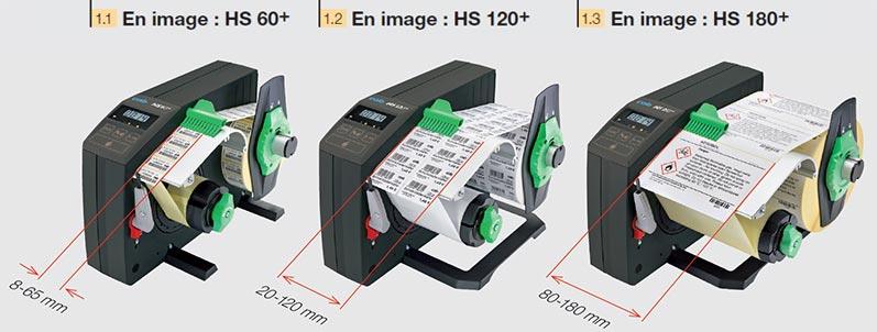Trois largeurs de matières pour distributeurs HS et VS