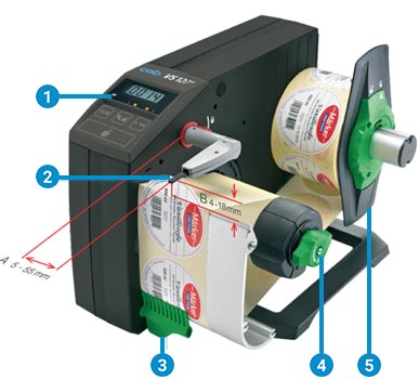 Label dispenser HS and VS functions