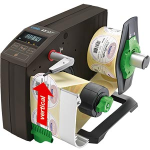 Label dispenser VS - Vertical dispensing direction