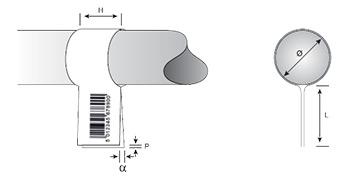 Détails applicateur de pose en drapeau 4712