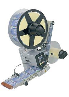 Étiqueteuse 124 L, montage vertical, dérouleur D310 V 124 L