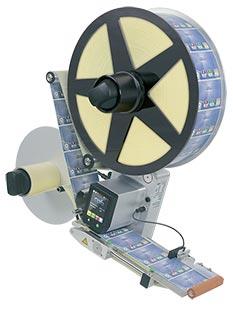 Étiqueteuse 124 R, montage vertical, dérouleur D410 V 124 R